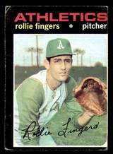 1971 Topps #384 Rollie Fingers Miscut