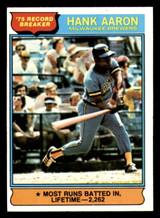 1976 Topps #1 Hank Aaron RB Excellent