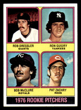 1976 Topps #599 Rob Dressler/Ron Guidry/Bob McClure/Pat Zachary Rookie Pitchers Ex-Mint RC Rookie  ID: 312680