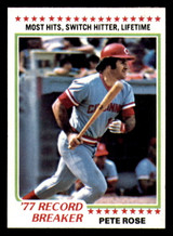 1978 Topps #5 Pete Rose RB Very Good