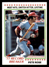 1978 Topps #5 Pete Rose RB Near Mint+  ID: 312706