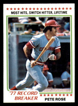 1978 Topps #5 Pete Rose RB Near Mint  ID: 312707