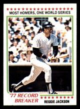 1978 Topps #7 Reggie Jackson RB Near Mint  ID: 312709