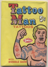 1968 Philly Tattoos Man 5 Cents Wax Pack  #*