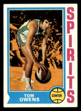 1974-75 Topps #256 Tom Owens Excellent+