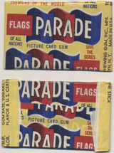 1950 Flags Parade Soldiers Of The World 1 Cent Unopened 1 Wax Pack  #*#