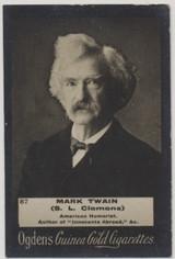 1901 Ogdens Guinea Gold Cigarettes #87 Set 330's Mark Twain Ex++  #*