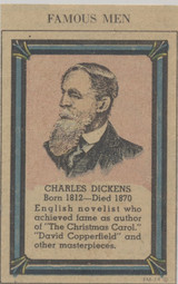 1950-60 Charles Dickens 1812-1870 Cut From Newspaper  #*