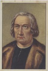 1938 Famous Men Belgian #75 Christopher Columbus w/ Overprint Back  #*