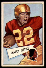 1952 Bowman Small #18 Charlie Justice Very Good  ID: 225376