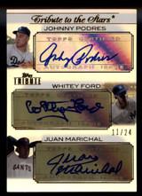 2011 Topps Tribute Johnny Podres Whitey Ford Juan Marichal Auto 11/24 Stars