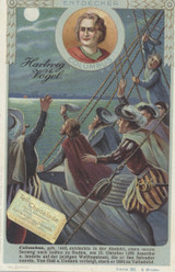 1905 Hart Wig Vogel Germany Series 80 Explorers #2 Christopher Columbus  #*