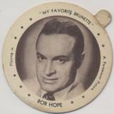 """1947 Dixie Lid Bob Hope """"My Favorite Brunette"""" 2/14 inch Diameter Hoodsie  #*"""