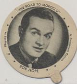 "1942 Dixie Lid Bob Hope ""The Road To Morocco"" 2 1/4 inch Diameter Breyers Ice Cream  #*"