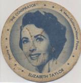 "1950 Dixie Lid Elizabeth Taylor ""The Conspriator"" 2 3/4 inch Diameter Sun Up Ice Cream  #*"
