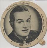 "1942 Dixie Lid Bob Hope ""My Favorite Blonde"" 2 3/4 inch Diameter Sealtest Ice Cream  #*"
