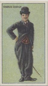 1922 Cinema Stars Flag Cig. United Tob. S.A. Charlie Chaplin Ex Blank Back  #*