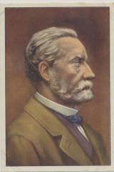 1930's Gutermann Belgium Famous Men #22 Louis Pasteur Ex-Mt With Over Ptrint On Back  #*
