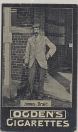 1902 Ogden's Cigarettes Golf James Braid  #*
