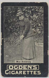 1902 Ogden's Cigarettes Golf Lady Golfer Miss Armstrong  #*