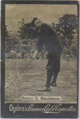 1901 Ogden Cigarette Card Guinea Gold Golf Horace G. Hutchinson  #*