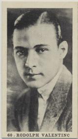 1922 T85-2A Strollers Cig. Film Stars #60 Rudolph Valentino EX-MT  #*