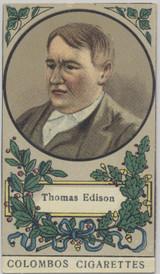 1908 Royality & Celebrities C. Colombos Malta (#112) Thomas Edison Ex-Mt  #*