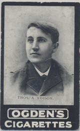 1900 Ogdens Cigarettes General Interest Series A #14/150 Thomas Edison Vg-Ex  #*