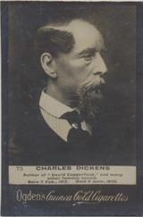 1901 Guinea Gold Ogdens Ltd. Liverpool Set 330s-1 #75 Charles Dickens Ex  #*