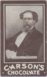 1902 Carsons Chocolate Charles Dickens Ex+  #*