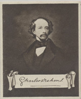 1923 Nicolas Sarony & Co Celebrities Autographs #18/25 Charles Dickens Ex (Wide)  #*