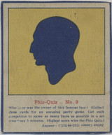 1930s Phiz-Quiz Silhouette Puzzle Julius Cedar Vg-Ex Blank Back  #*