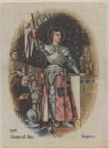 1913 Godfrey Phillips (Silk) Old Masters #104 Joan Of Arc Nr-Mt Blank Back  #*