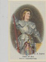 1924 Godfrey Phillips (Silk) Old Masters Set 6 Joan Of Arc Nr-Mt Blank Back  #*