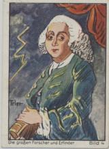1933 Bergmann Dresden Germany Bunte Album 3 Inventors & Discoveries #4/150 Benjamin Franklin  #*
