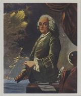 1934 Eckstein Halpaus Dresden Germany Great Figures In World History #95/252 Benjamin Franklin Ex  #*