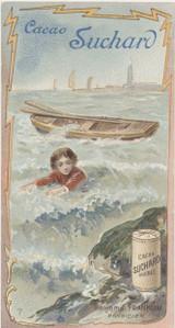 1895 Suchard Switzerland Series 82 Famous People #7 Benjamin Franklin Ex  #*