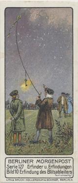 1913 Berliner Morgenpost Germany Series 127 Famous Inventors #10 Benjamin Franklin Ex-Mt  #*