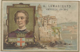 1895 Lemarchard, France Famous People & Where They Were Born Christopher Columbus G-Vg  #*