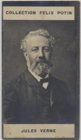 1900 Felix Potin France Famous People (Photo) Jules Verne Vg+  #*