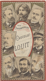 1900 Chocolate Louit Freres & Co Paris France Our Contemporaries Jules Verne Ex  #*