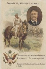 1901 Arlatte France Military Series Teddy Roosevelt Ex-Mt  #*