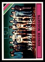 1975-76 Topps #321 Denver Nuggets Team card Near Mint+