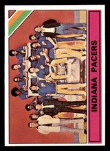 1975-76 Topps #322 Indiana Pacers Team Card Near Mint+