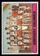 1975-76 Topps #323 Kentucky Colonels Team Card Ex-Mint