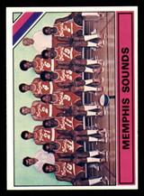 1975-76 Topps #324 Memphis Sounds Team Card Rick Mount Near Mint