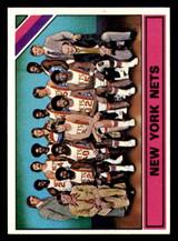 1975-76 Topps #325 New York Nets Team Card Julius Erving Ex-Mint