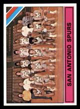 1975-76 Topps #327 San Antonio Spurs Team Card George Gervin/George Karl Near Mint+