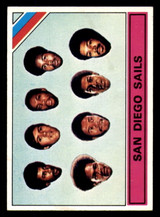 1975-76 Topps #328 San Diego Sails Team Card Excellent+