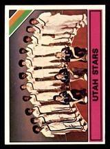 1975-76 Topps #329 Team Card Utah Stars Near Mint